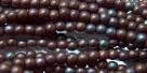 #41 - 50 Stück Perlen rund - matte luster/met. amethyst - Ø 3 mm