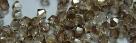 #03.0 25 Stück - 3,0 mm Crystal Bicone Smoky Topaz iris luster