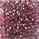 #103.07 50 Stück - 4,0 mm Glasschliffperlen - Crystal Half Labrador - Coated - Hot Pink