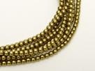 02010/10079 - 1 Strang Perlen Ø 2 mm rund - gold-olivine pearl-coating