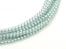 02010/10110 - 1 Strang Perlen Ø 2 mm rund - lt blue pearl-coating