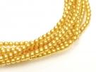 02010/10137 - 1 Strang Perlen Ø 2 mm rund - gold pearl-coating