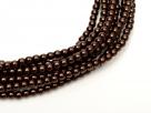 02010/70408 - 1 Strang Perlen Ø 2 mm rund - dk brown pearl-coating