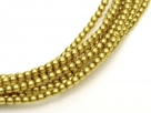 02010/10189 - 1 Strang Perlen Ø 2 mm rund - yellow-gold olive pearl-coating