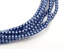 02010/10190 - 1 Strang Perlen Ø 2 mm rund - blue pearl-coating