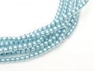 02010/24625 - 1 Strang Perlen Ø 2 mm rund - turquoise pearl-coating