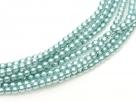 02010/24644 - 1 Strang Perlen Ø 2 mm rund - green turquoise pearl-coating