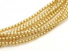 02010/70486 - 1 Strang Perlen Ø 2 mm rund - lt gold pearl-coating