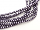 02010/85921 - 1 Strang Perlen Ø 2 mm rund - lt purple pearl-coating satin