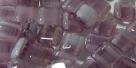 50 Stück Two-Hole ARC Bead 6mm - tr amethyst/opal white