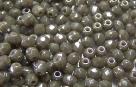#03.3 50 Stück - 3,0 mm Glasschliffperlen - opal black diamond h
