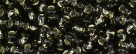 10 g TOHO Seed Beads 11/0 TR-11-0029 C  Black Diamond Dark Silver-Lined (A,D)