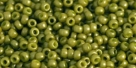 10 g TOHO Seed Beads 11/0 TR-11-1624 SF - Opaque-Semi-Frosted Pea Green Soup