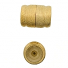 Neumann-Magnet-Endkappen gebürstet - 26x20 mm 23K Goldauflage