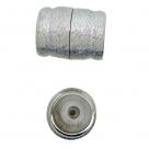 Neumann-Magnet-Endkappen gebürstet - 26x20 mm Rhodiumauflage