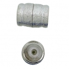 Neumann-Magnet-Endkappen gebürstet - 26x20 mm Rhodium