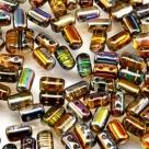 #05c 10g Rulla-Beads crystal magic orange-grey