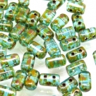 #25a 10g Rulla-Beads tr. aquamarine travertin