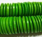 1 Strang Kokos-Linsen Ø ca. 20mm - spring green (ca. ± 45 Stück)