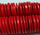 1 Strang Kokos-Linsen Ø ca. 20mm - red (ca. ± 45 Stück)
