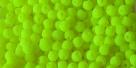 #42 - 50 Stck. Perlen Ø 3 mm rund - samtig neon gelb