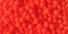 #43 - 50 Stck. Perlen Ø 3 mm rund - samtig neon orange