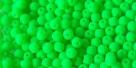 #45 - 50 Stck. Perlen Ø 3 mm rund - samtig neon grün