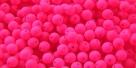 #69 50 Stück Perlen rund - samtig neon pink - Ø 4 mm