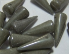 #29 - 10 Stck. Spike-Bead 7x17mm - gray luster