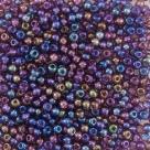 #080 10 Gramm Rocailles rainbow dkl.-lila 9/0 2,6 mm