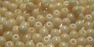 #47 - 50 Stück Perlen rund - opak champagne luster - Ø 3 mm