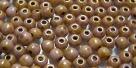 #49 - 50 Stück Perlen rund - opak white lila gold luster - Ø 3 m