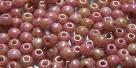 #53 - 50 Stück Perlen rund - opak white gold luster - Ø 3 m