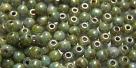 #56 - 50 Stück Perlen rund - opak weiß lazure blue - Ø 3 mm