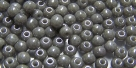 #57 - 50 Stück Perlen rund - opak white gray luster - Ø 3mm