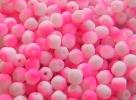 #99.05 50 Stück - 4,0 mm Glasschliffperlen - white neon pink