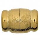 Neumann-Magnet-Endkappen gebürstet - 26x18 mm 23K Goldauflage