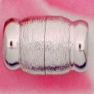 Neumann-Magnet-Endkappen gebürstet - 26x18 mm Rhodium