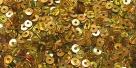 1 Gramm Pailletten 4mm Laser - gold
