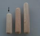 10 Stück Holzdübel ca. 8*30 mm (BxL) ungebohrt