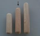 10 Stück Holzdübel ca. 8*40 mm (BxL) ungebohrt