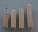 10 Stück Holzdübel ca. 10*30 mm (BxL) ungebohrt
