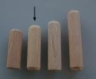 10 Stück Holzdübel ca. 10*35 mm (BxL) ungebohrt
