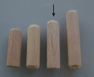 10 Stück Holzdübel ca. 10*40 mm (BxL) ungebohrt