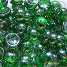 #56 - 25 Stck. Piggy-Beads 4x8mm - emerald hematite coating