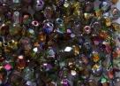 #99.14 50 Stück - 4,0 mm Glasschliffperlen - magic green