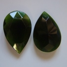 #02 - 1 Tropfen facetiert 49x32x13mm (LxBxH) - tr. olivine