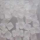 25 Stück Two-Hole Silky Beads 6mm - crystal matt