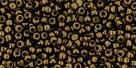 5g Toho 15/0er Charlotten 0422 - gold lustered dk chokolate bron