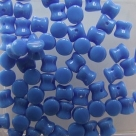 #02 - 25 Stck. Diabolo Beads 4x6 mm opak blue